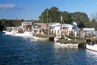 Mathews County Virginia Davis Creek Watermans Seafood Pier